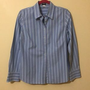 J.crew stripped Button Up Size M